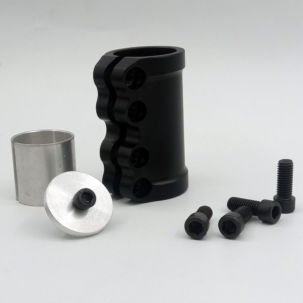 1 Uds., Scooter acrobático, abrazadera CNC de aleación de aluminio 7305 con 4 tornillos, accesorios para Scooter
