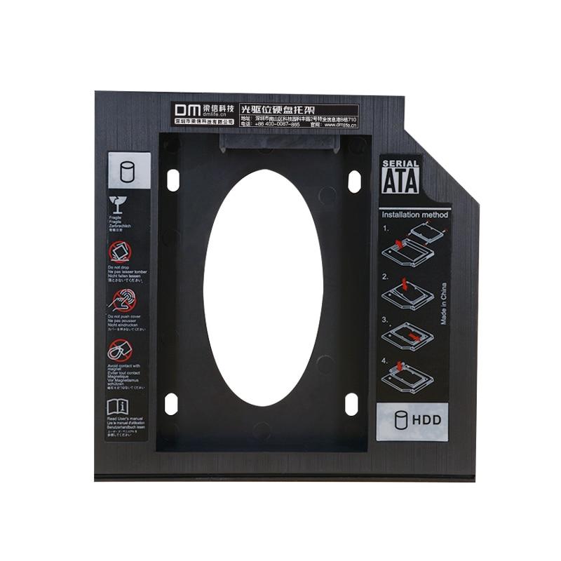 DM DW95 HDD Caddy 9.5mm Plastic Optibay SATA 3.0 Hard Disk Drive Box Enclosure DVD Adapter 2.5 SSD 2