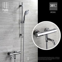 hpb brass thermostatic torneira banheiro bathroom hot and cold water mixer bath shower set faucet hp2301