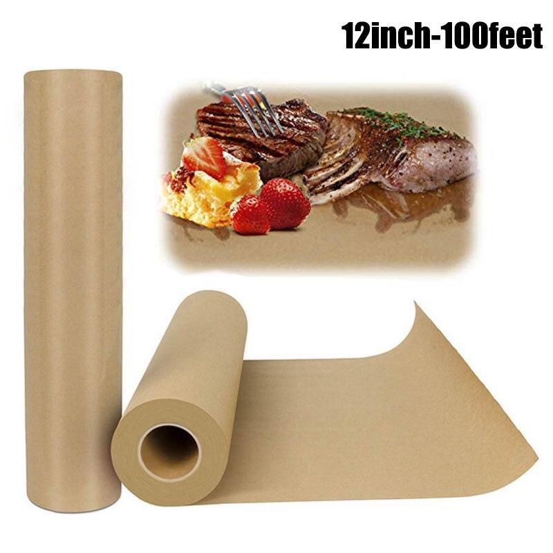 Rollo de papel Kraft Butcher-12 pulgadas 100 pies de papel de envolver para ternera Brisket aprobado por la FDA perfecto para fumar carnes de papel de cocina