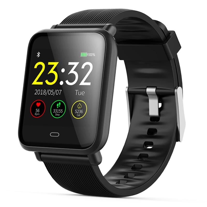 Reloj inteligente para hombre Q9 presión arterial Monitor de frecuencia cardíaca Smartwatch IP67 impermeable Deporte Fitness Trakcer hombres mujeres Smartwatch