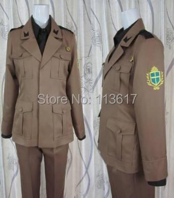 Poderes axis hetália 2p itália cosplay traje incluindo chapéu + camisa + calças casaco cinto conjunto