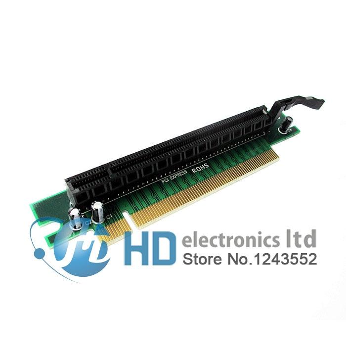 PCI-E PCI Express x16 to x16 90 Degree Right Angle Riser Card For 1U 2U PC