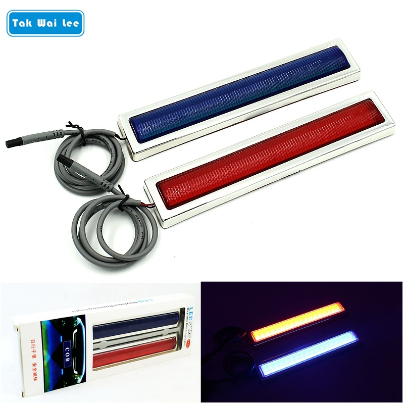 Tak Wai Lee 2X светодиодный стробоскопический предупреждающий свет внешние тормоза парковочный автомобиль Стайлинг красный синий источник пожарный полицейский Маяк вспышка лампа