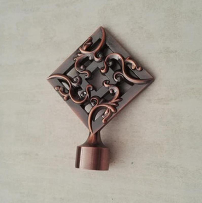 ¡Nuevo diseño! Calidad pintura a mano y chapado proceso Zinc metal rod finals para 28mm/1-1/8-en diámetro barras de cortina puede mezclar orden