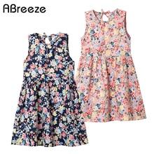 New summer children flower dresses 1Y 6Y 11Y  big girls beach dresses cotton A-line dresses for girls