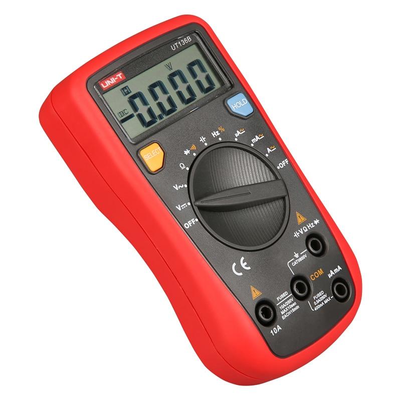 UNI-T UT136B Auto Range Digital Multimeter AC DC Frequency Resistance Tester W/Capacitance Test LCR Meter