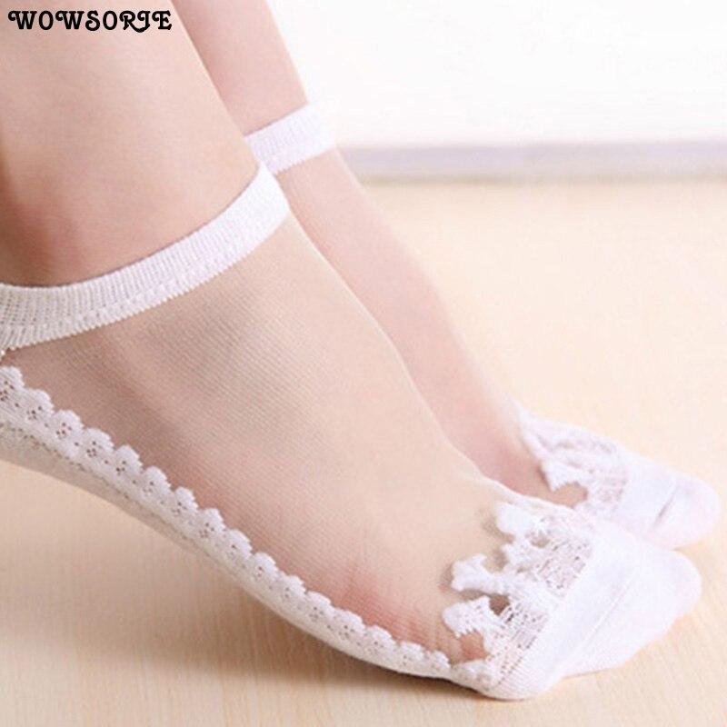 Nette Socke Pantoffel Frauen 1 Paar 2 Stück Seide Frühling Sommer Kawaii Dünne Socke Hausschuhe Atmungs Mode Mädchen Boot Socken