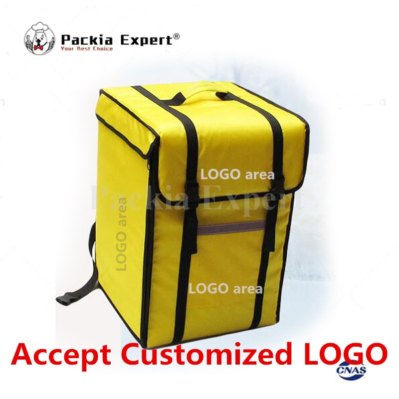 Customized  Logo 12-14inch 69L 39*39*56cm Backpack insulation  bag, food package delivery  pizza delivery bag PKHS69L Take out