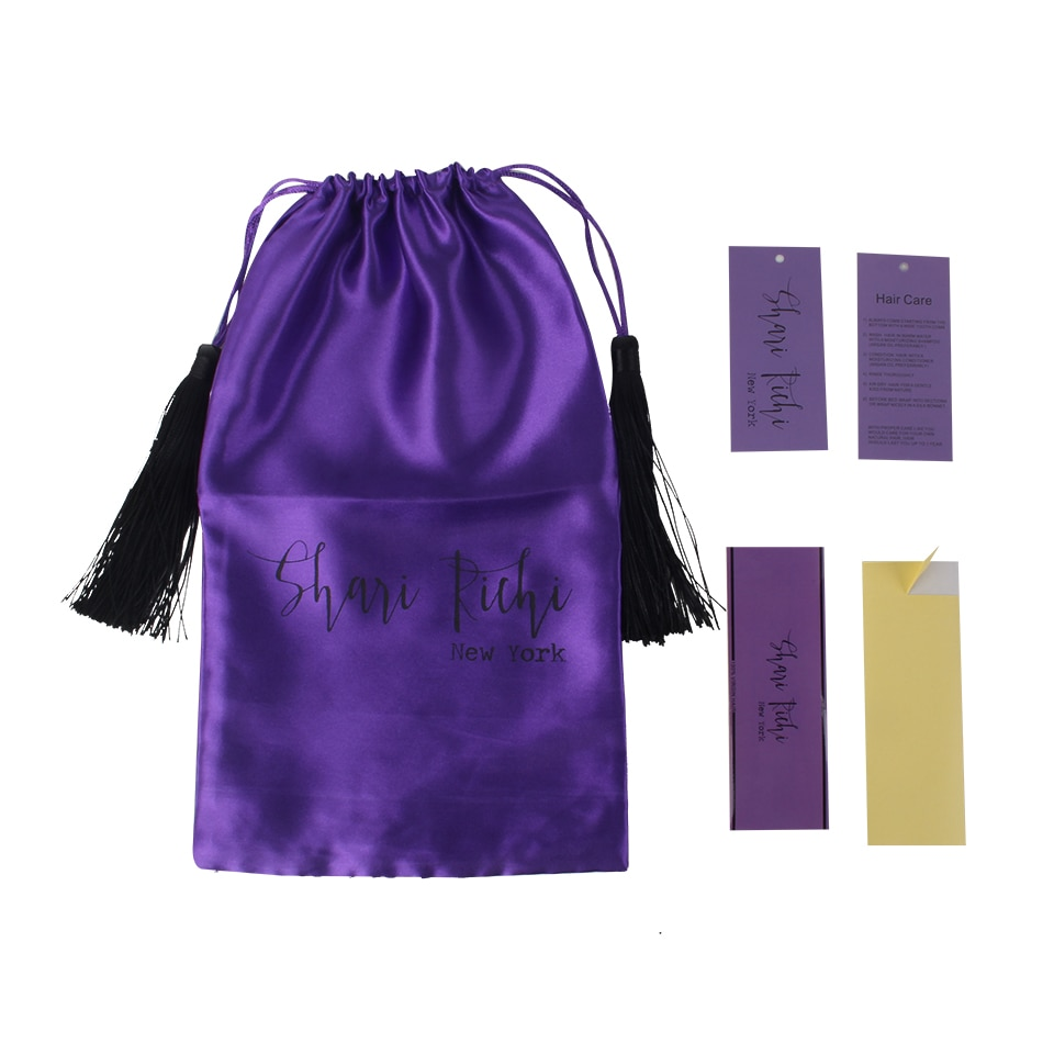 Individuelles logo druck Reines haar extensions bundles verpackung tasche mit luxus quaste, verpackung papier hängen tag wrap aufkleber sets
