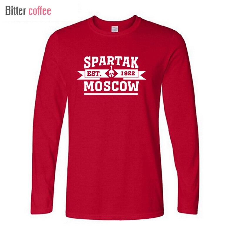CAFÉ AMARGO NWE T-shirt de Moscou da Rússia premier league de Alta qualidade Camiseta de Manga longa Camiseta XS-XXL