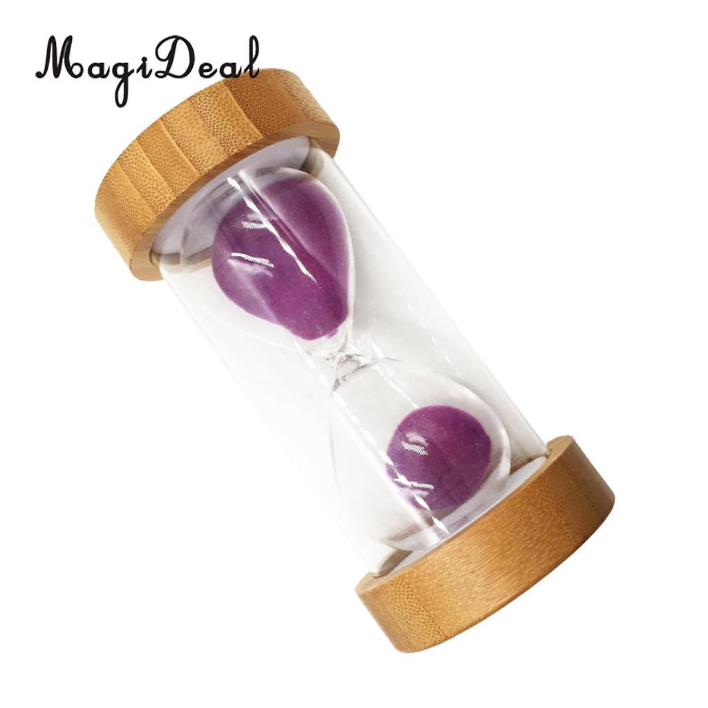 Reloj de arena MagiDeal con temporizador de 1/25 minutos para cocina, Yoga, juegos infantiles, arena púrpura