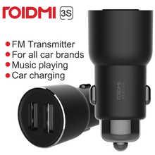 Youpin ROIDMI/ROIDMI 3S 5 В/3,4 а FM беспроводное Bluetooth автомобильное зарядное устройство USB музыкальный плеер с умным приложением для iPhone 7 5S 6 6S & Android