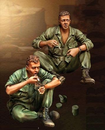 1/35 Scale Unpainted Resin Figure Vietnam War US soldiers eat lunch