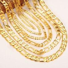 Goud Mannen Collier Figaro Link ketting ketting armband Gold Filled Vrouwen Groothandel Sieraden 3/4 5/6/7/8/9/10mm jongens gift
