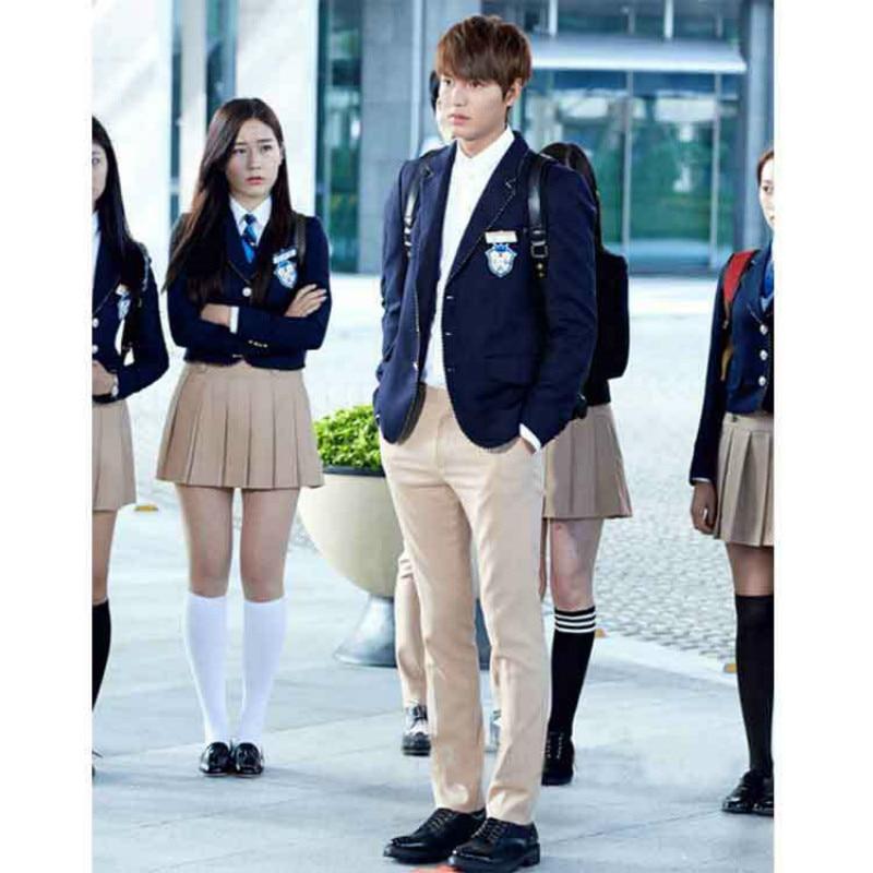 Uniforms Set New England South Korea JK Uniform Fashion High School Student Dress Classy Long sleeve Elegant suit jacket