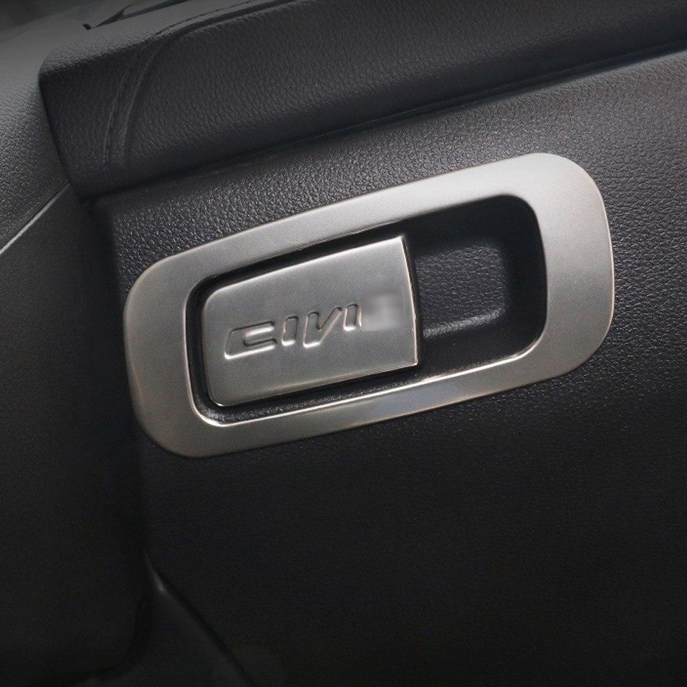 Para Honda CIVIC 2016 2017 2018 2019 guantera de coche compartimento manija embellecedor pegatinas accesorios de decoración