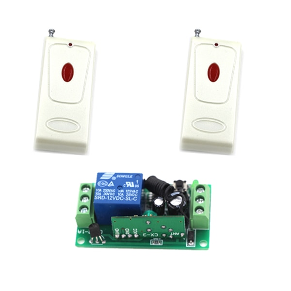 DC 9V 12V 24V Wireless Remote Control Switch System Transmitter 10A Receiver RF Remote Control Switch for Gate LED Light