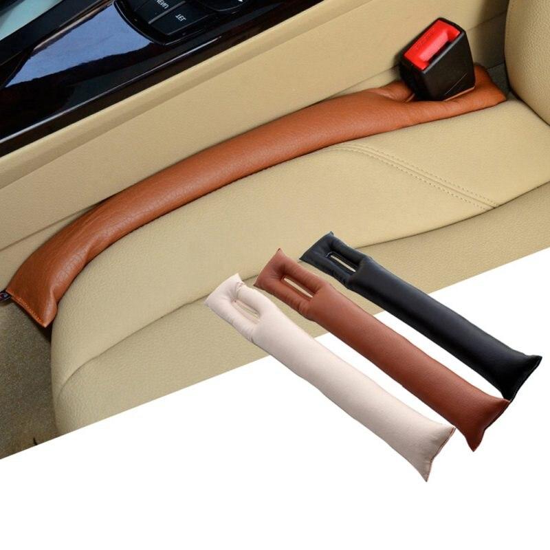 Almohadillas antifugas para hueco de asiento de coche 1 Uds cuero Premium Auto Pad Mat Stopper Kit relleno separador de asientos cubrereposabrazos Styling