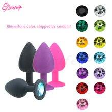 1 pièces coloré diamant Vibration Anal sex toys Silicone cristal bijoux Anal godemichet Anal vibrateurs intime sex toys pour les femmes