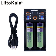 2 adet Liitokala 3.7 V 3400 mAh 18650 Şarj Edilebilir li-ion pil (YOK PCB) + Lii-202 USB 26650 18650 AAA AA Akıllı Yükleyici