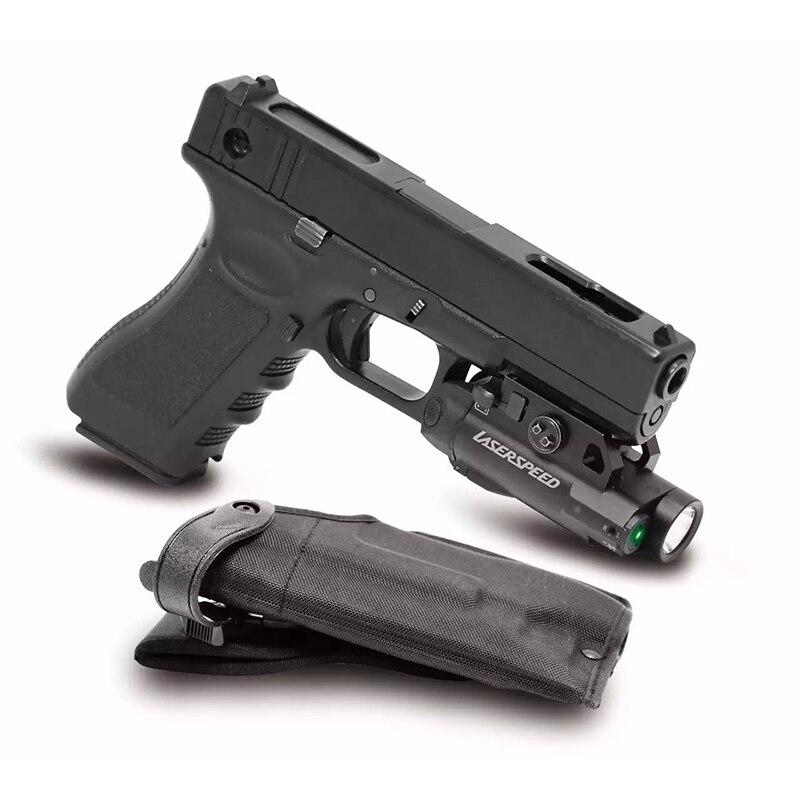 Laserspeed pistola láser + funda de inducción magnética para pistolas de autodefensa armas táctica láser vista linterna Combo