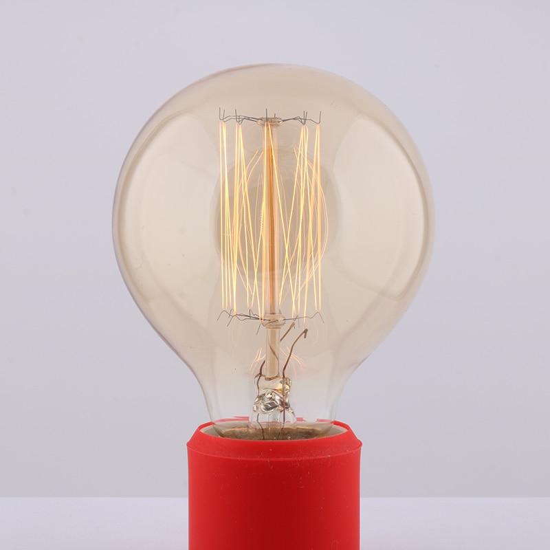 10 Uds 40W clásico Vintage Retro E27 filamento G80 luz de Edison recta blanco cálido AC110V/220 V bombillas incandescentes antiguas
