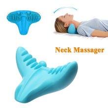 Masseur de cou Portable   Oreiller de Relaxation, acupression à gravité, cou, cervicales, épaule, ample, douleur, Traction de Massage