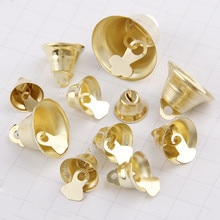 12/14/16/21/26mm Gold Iron Vacuum Christmas Open jingle Bells Pendant Handmade Party DIY Crafts Accessories
