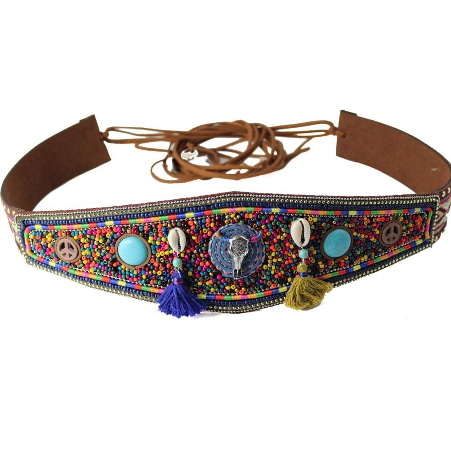 Nuevo lujo étnico tradicional bohemio ancho mujer Cinturón correa para mujeres jeans vestido ancho mujeres cinturones alta calidad
