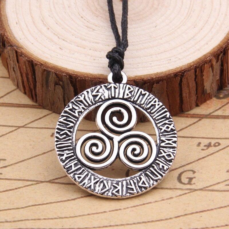Viking rune amulet pendant Men necklace Scandinavian