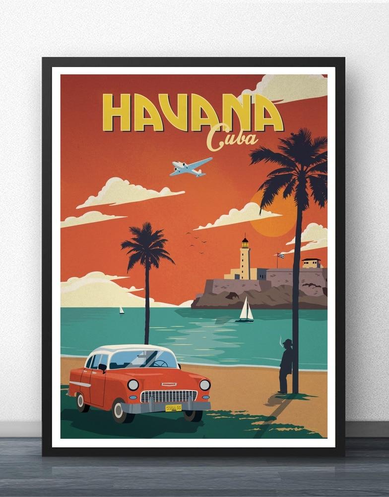 Vintage Malibu Havana Poster Movie Wall Art Paint Wall Decor Canvas Prints Canvas Art Poster Oil Paintings No Frame