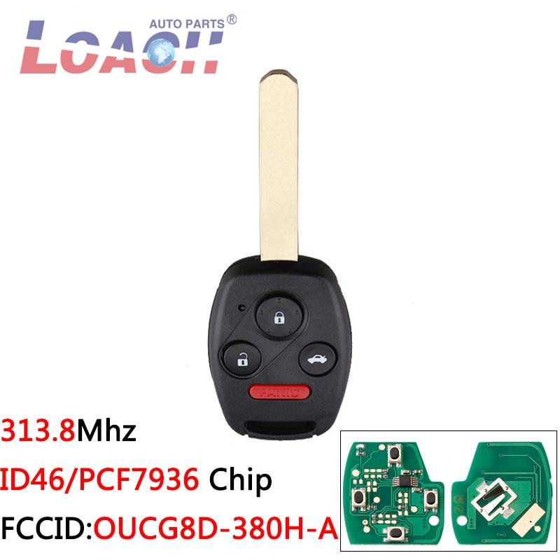 3 + 1 кнопки OUCG8D-380H-A ID46 чип Автомобильный ключ без ключа для Honda Accord 2003-2007 для Honda CRV 2005-2007 ключи