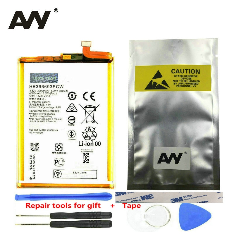AVY For Huawei Mate 8 Replacement Battery HB396693ECW For Mate 8 NXT-AL10 NXT-TL00 Rechargeable Li-polymer Batteries 3900mAh enlarge
