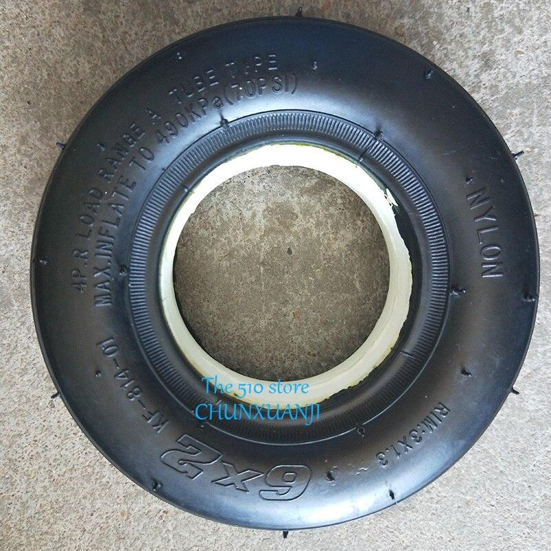 "Tamaño 6X2 neumático sólido para Scooter Eléctrico silla de ruedas camión uso 6 ""neumático F0 carro neumático"