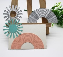 Sun & arc-en-ciel matrices de découpe   En métal, matrices de découpe pour Scrapbooking, bricolage gaufrage de cartes dalbum en papier, fabrication de nouvelles découpes artisanales décoratives