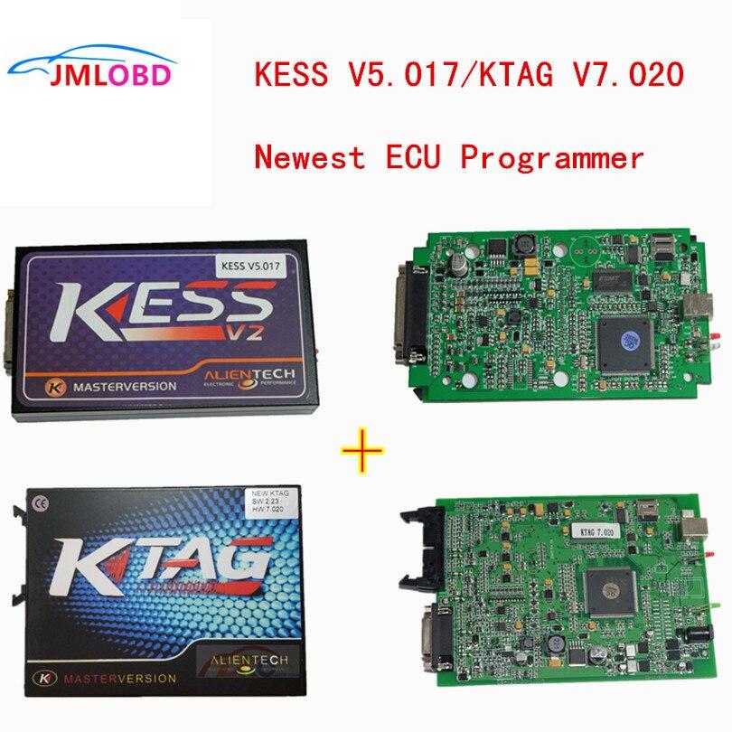 Mejor Precio PCB verde Ktag V7.020 k-tag 7.020 + Kess V2 V5.017 OBD2 Kit de sintonización de gerente herramienta de programación de ECU sin señales limitado