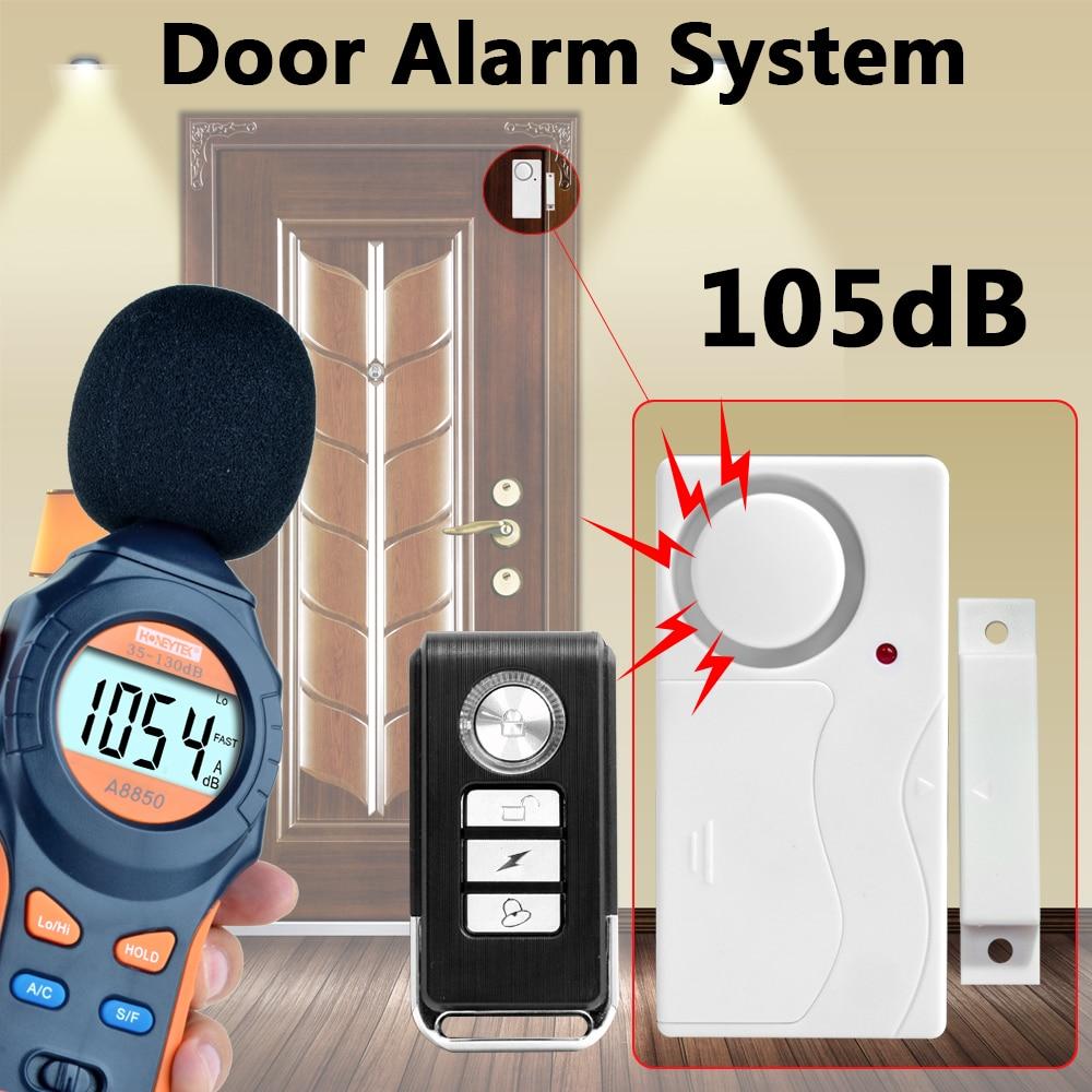 Система сигнализации для дверей и окон, беспроводной пульт дистанционного управления из АБС-пластика, датчик для дверей, хост-система сигна...