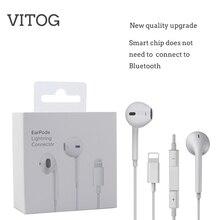Illuminazione Auricolare con microfono Wired Auricolari Stereo per Apple iPhone 8 7 Plus X XS MAX XR iPod Trasduttore Auricolare Metallico fulmine