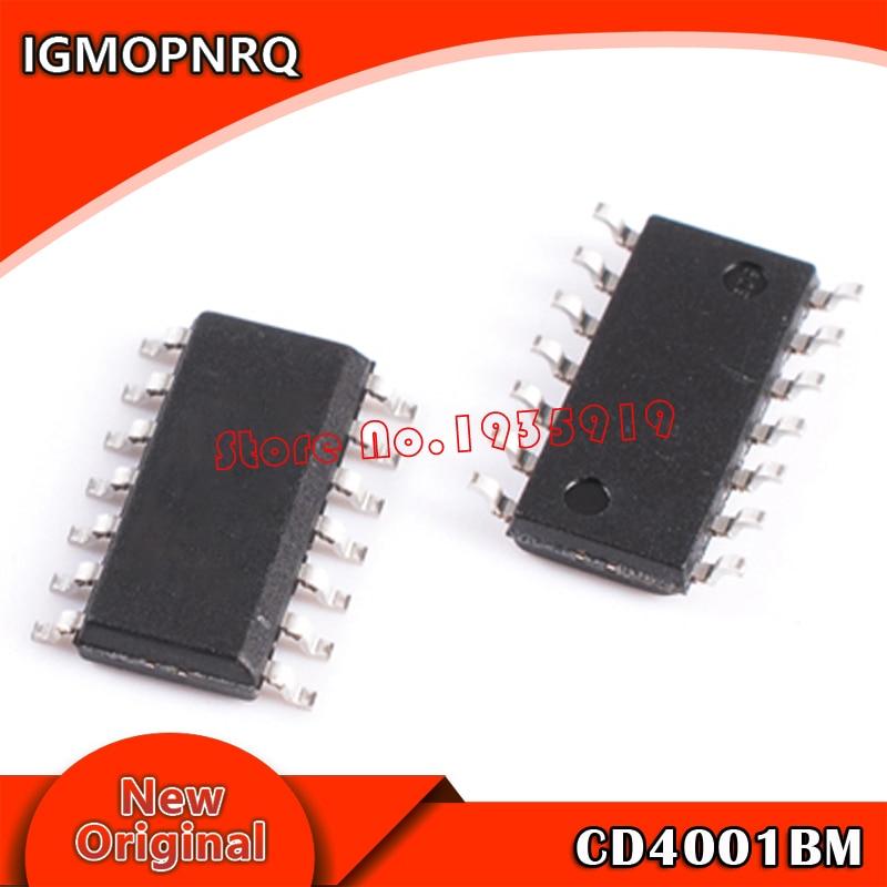 20 piezas envío gratis CD4001BM CD4001 HEF4001BT HEF4001 SOP-14 nuevo original