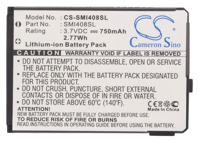 Cameron Sino 750mAh Battery ABG14089BC,SMI408SL for Samsung SGH-i400, SGH-i408