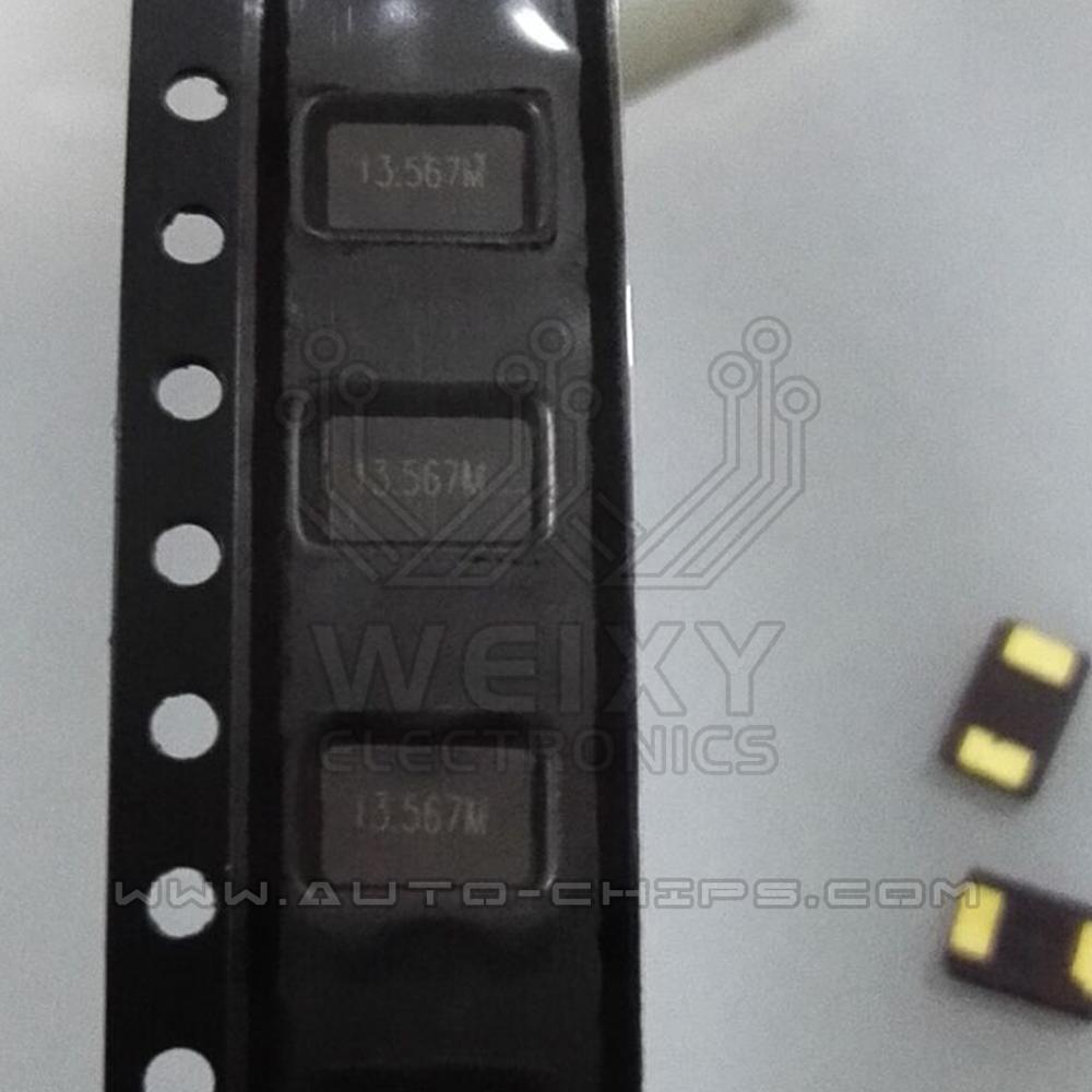 Oscilador de cristal de 13.567 MHz, utilizado para llave automotriz