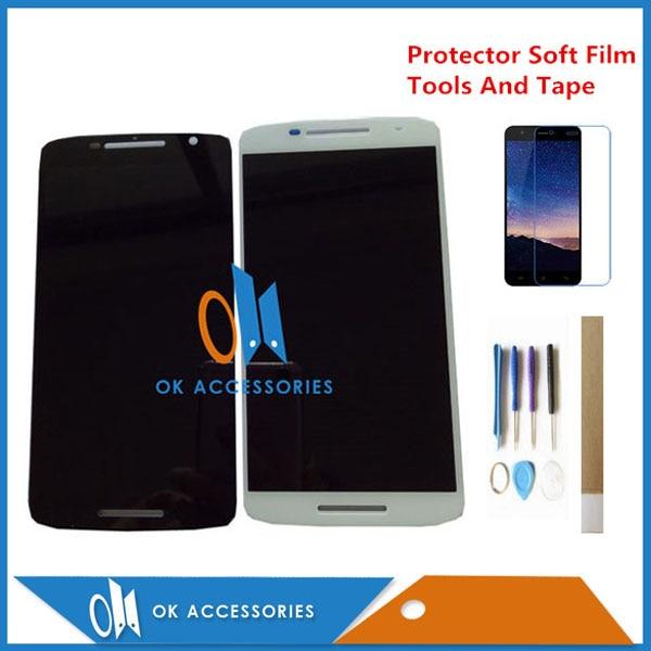 Cor Branca preta Para Motorola X Jogar X3 XT1562 XT1563 XT1561 Display LCD + Touch Screen Assembly Digtizer Com Kits