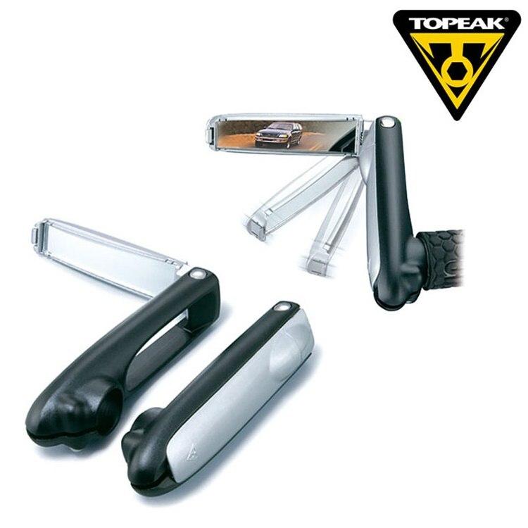 Topeak tbm001 forjada extremidade da barra com espelho embutido acessórios de bicicleta pequeno guiador auxiliar espelho retrovisor 2 pcs/par preço