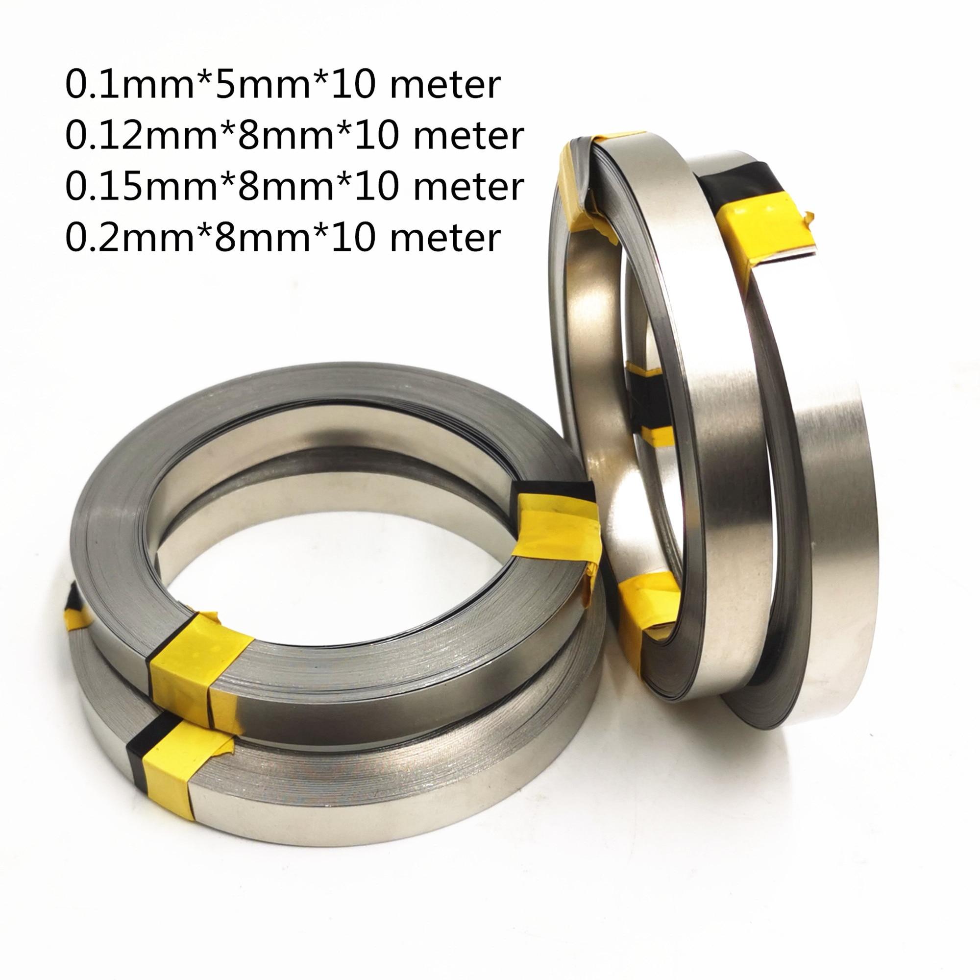 1 role 10 m 18650 pro Li-ion baterie niklová plechová deska poniklovaný ocelový pásový pásový konektor bodový svařovací stroj svářečky baterií
