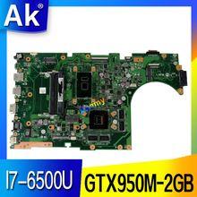 AK  X756UX MAIN_BD./I7-6500U GTX950M-2GB DDR4  Mainboard For Asus X756U X756UXM K756U X756UB laptop motherboard test ok