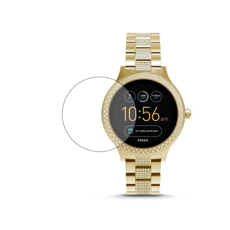 Vidro temperado película protetora ultra claro guarda para fossil q venture gen 3 geração relógio smartwatch protetor de tela capa
