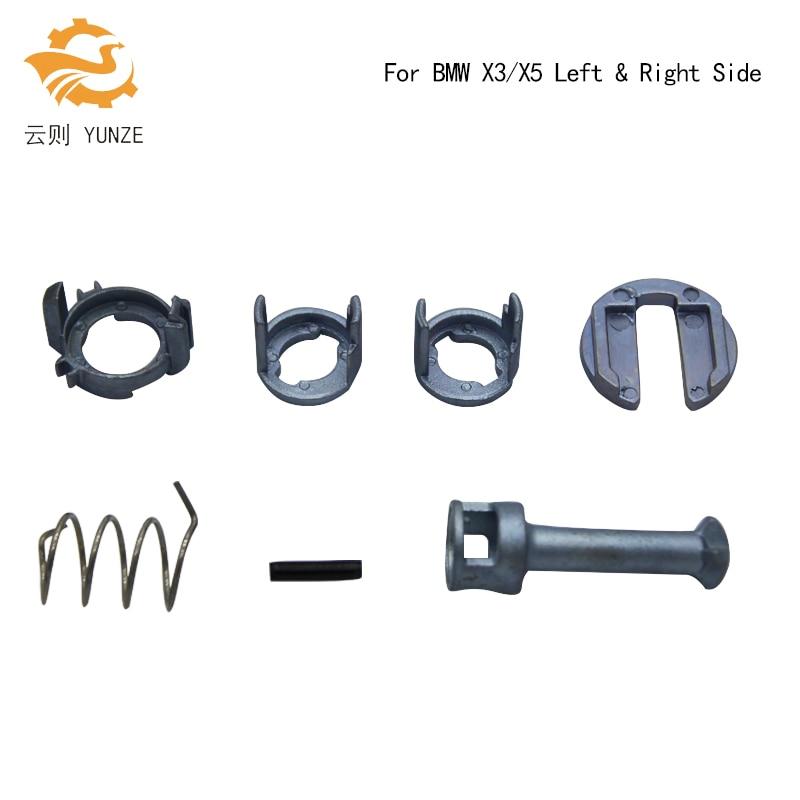 1 SET DOOR LOCK BARREL REPAIR KIT PADDLE 40MM 7PCS/SET FOR BMW X3 E83 2003-2010 X5 E53 1999-2006 LEFT RIGHT SIDE BRAND NEW