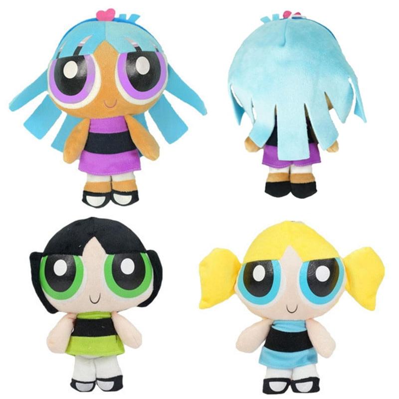 The Powerpuff Girls Plush Dolls Bubbles Blossom Buttercup peluche Toys Baby Kids Cartoon Gift 3pcs/set 20cm