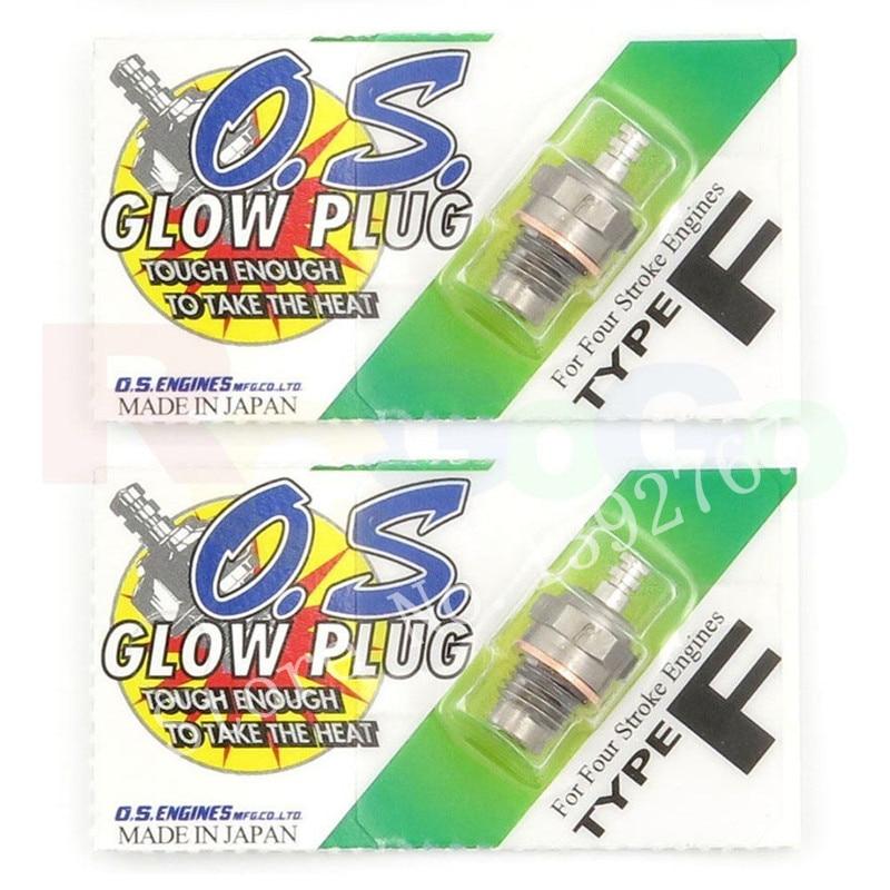 2Pcs Original Glow Stecker OS OS. Typ F (hot) OS71615009 Glow Plug Spark Für Für Viertakt Motor RC Nitro Fernbedienung Auto